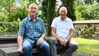 Sie sagen den Räumlichkeiten des BWZ an der Annerstrasse 12 in Brugg Adieu: Hermann Leitner (links) und Ueli Müller verabschieden sich in die Pension.