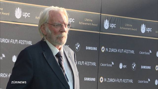 Lifetime-Award am ZFF für Donald Sutherland