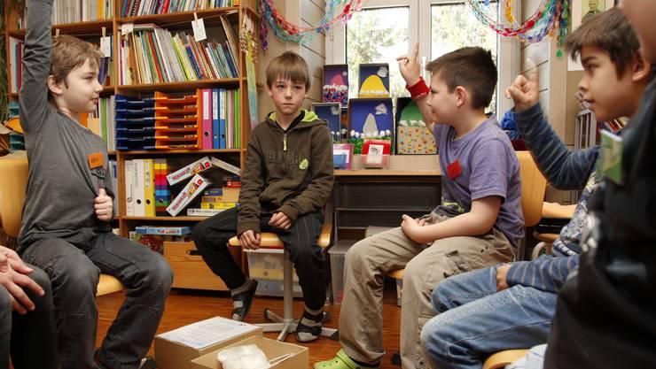 Im Schulhaus Oberdorf kann man dieser Tage beim Unterricht dabei sein