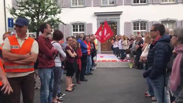 Landrat Baselland Protest gegen Rentenkürzung