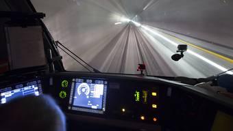 Die Züge schaffen doch 200 km/h im Basistunnel - das wurde zuletzt angezweifelt.