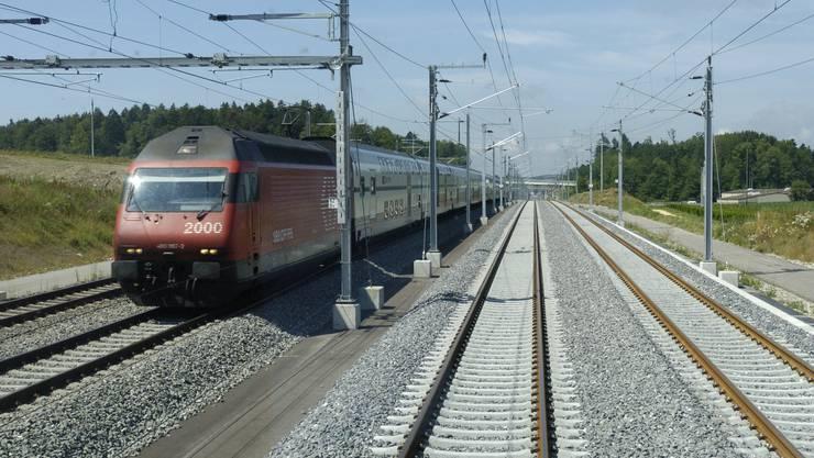 Die Bahn-2000-Strecke zwischen Bern und Olten war am Mittwoch wegen einer Fahrleitungsstörung unterbrochen. (Symbolbild)