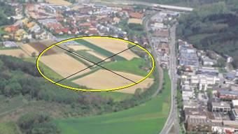 Das Entwicklungsgebiet Galgenbuck am südlichen Rand von Dättwil