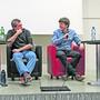 Unter der Leitung von Franz Horváth (rechts) diskutierten (von links) Raumplaner Thomas Zahnd, Raphael Schär (Lebendige Oltner Nachbarschaft) und Lukas Nussbaumer (Präsident Eisenbahner Baugenossenschaft Olten) über die Perspektiven des gemeinnützigen Wohnungsbaus.