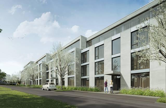 Rund 80 Wohnungen sollen entlang der Birmenstorferstrasse entstehen. Es ist eine der noch letzten unbebauten Landflächen in Fislisbach. Richtprojekt der Frei Architekten AG, Aarau. Im Bild: die Eichstrasse.