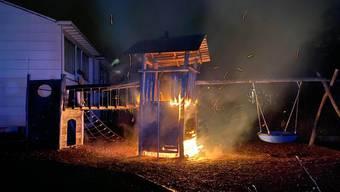 Spielanlage des Kindergartens Fislisbach niedergebrannt