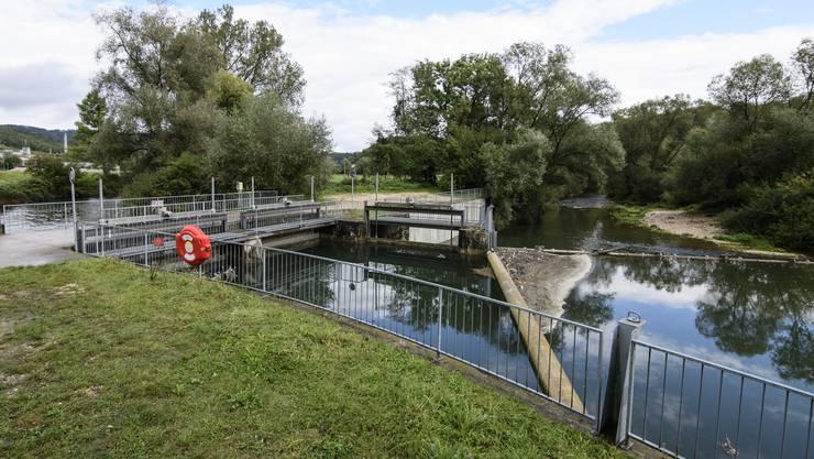 Kraftwerk Obermatt in Zwingen: Der rechte Arm ist der sogenannte Restwasserkanal. Hier sollte auch die Fischtreppe erneuert werden, denn sonst sitzen die Tiere laut WWF «in einer Sackgasse».