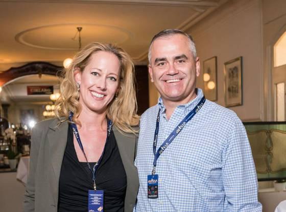 Thomas Gottstein mit Ehefrau Nadine, sie ist Ärztin.