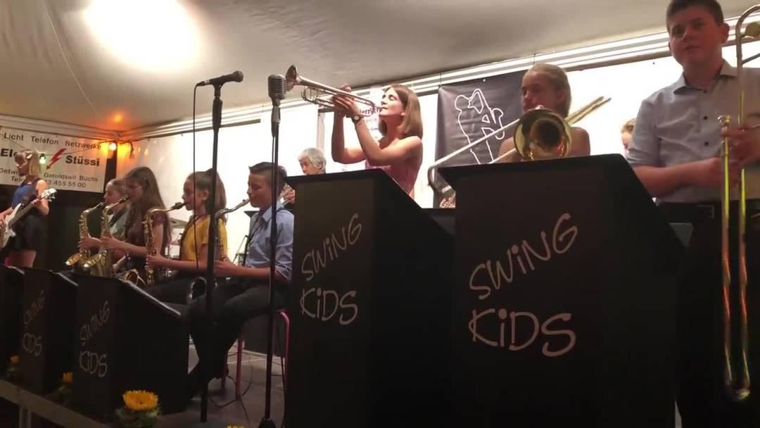 Swing Kids am Fiirabig-Jazz in Oetwil 2