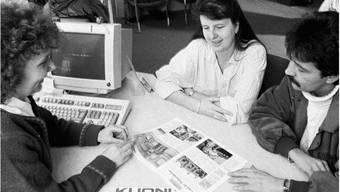Zürcher Kuoni-Filiale im Jahre 1997: Heute haben Reisebüros nur noch eine Existenzberechtigung, wenn sie mehr bieten können als das Internet. Keystone
