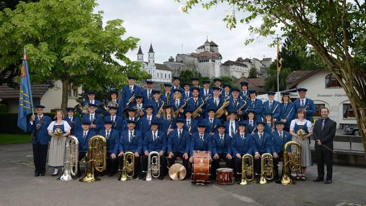 Die Musikgesellschaft freut sich auf ihr Geburtstagsfest! Dieses Bild entstand am Aarg. Kantonalmusikfest in Aarburg