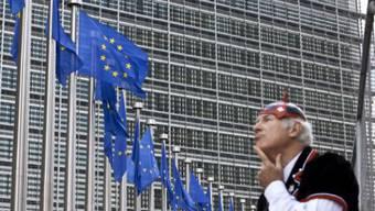 Der Sitz der EU-Kommission in Brüssel: Wie die Verhandlungen mit der Schweiz nach der Ära Burkhalter weitergehen sollen, weiss man hier nicht.