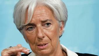 IWF-Chefin Christine Lagarde sieht kritisch in die Zukunft der Weltwirtschaft (Archiv)