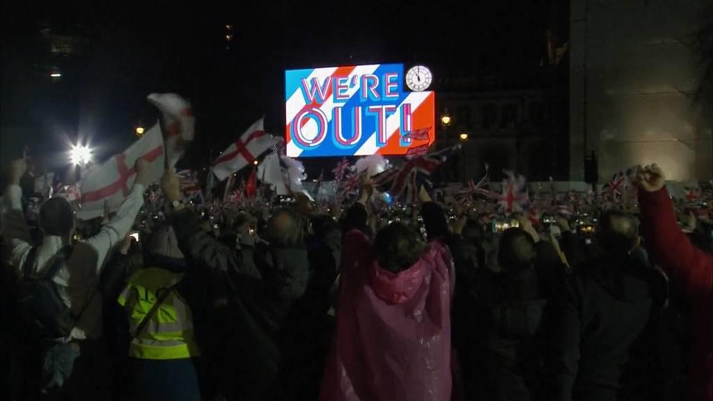 Feiern oder Trauern: Brexit spaltet Grossbritannien