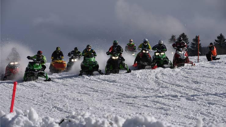Das Snowcross-Rennen auf dem Binzberg