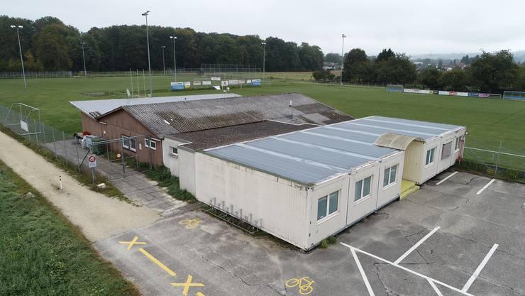 2,5 Millionen Franken kostet der Neubau des Klubhauses auf der Sportanlage Ey in Dulliken. Das Gebäude wird von drei Sportvereinen genutzt.