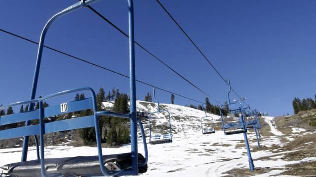 Unter der Dürre leiden auch die Skigebiete Kaliforniens