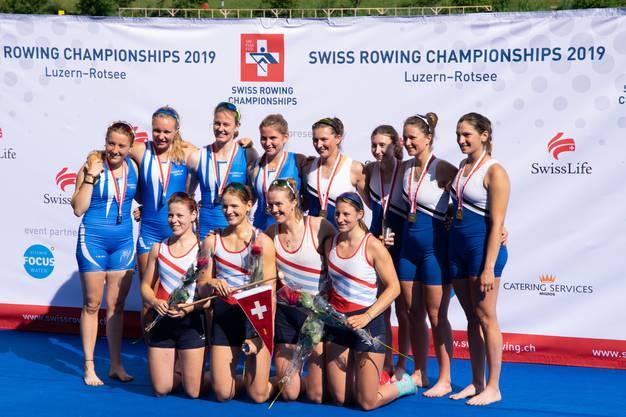 Ganze sieben Medaillen gehen auf das Konto des Ruderclubs Baden.