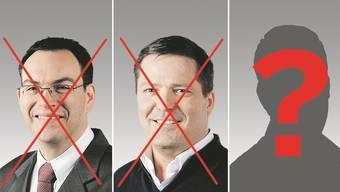 Vielen ist Andreas Sturm (Mitte) als Nachfolger von Andreas Albrecht nicht genehm.