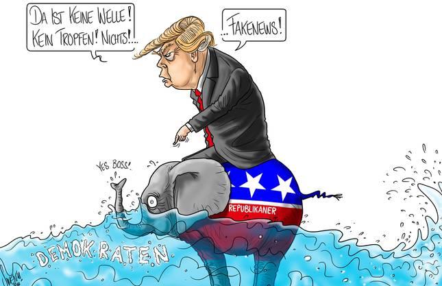 Der Blick von Karikaturist Silvan Wegmann auf die «Midterms» in den USA.