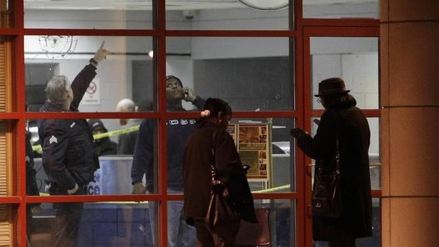 Die Polizeistation in Detroit nach dem Überfall eines Einzeltäters