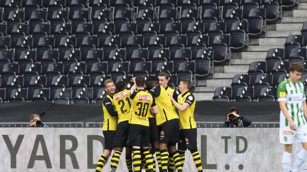 Fast der Meisterjubel: Nach dem Sieg gegen St. Gallen fehlt YB noch ein Erfolg zur Titelverteidigung
