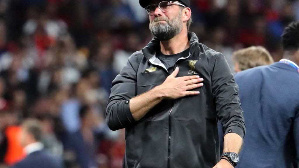 """Jürgen Klopp ist der Baumeister des Erfolgs von Liverpool und trainiert die """"Reds"""" seit Oktober 2015"""