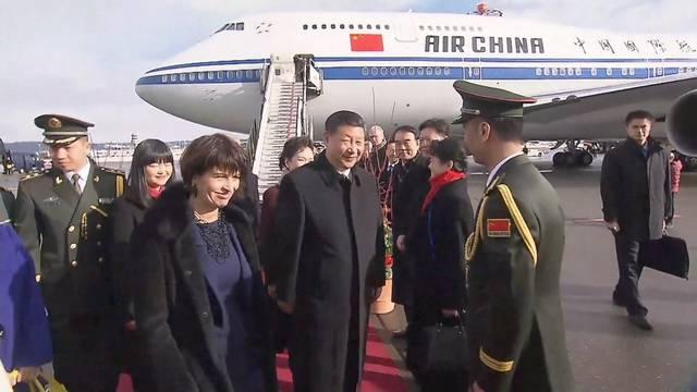 Ankunft des chinesischen Präsidenten in Kloten