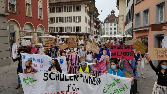 Klimademo in Aarau am 19. September 2020