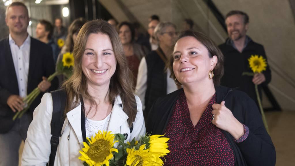 Von links: Adèle Thorens (Grüne) und Ada Marra (SP) lagen im ersten Wahlgang vorne. Der Bisherige Olivier Français (FDP) versucht mit Hilfe der SVP, seinen Sitz zu retten.