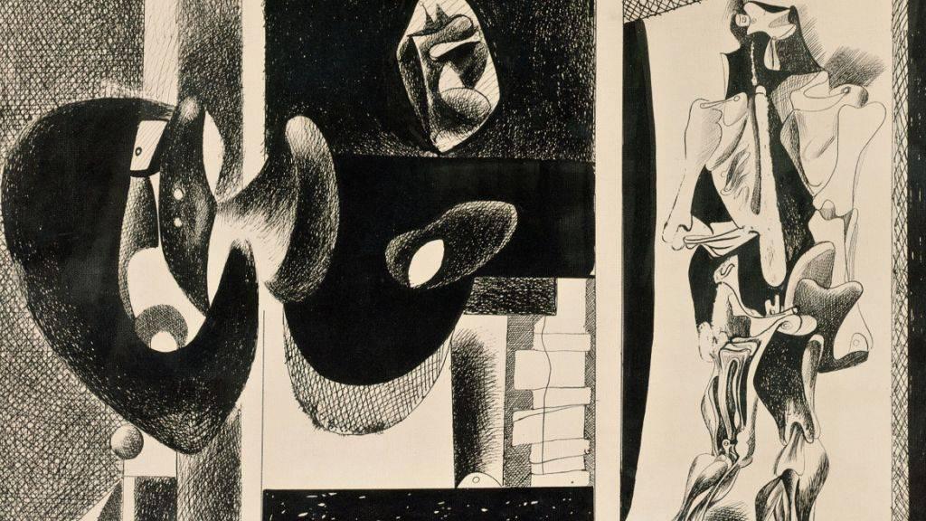 Das Werk «Untitled» (1931-1933) von Arshile Gorky ist Teil der Ausstellung «Picasso-Gorky-Warhol» im Kunsthaus Zürich. Sie dauert vom 20. September 2019 bis 5. Januar 2020.