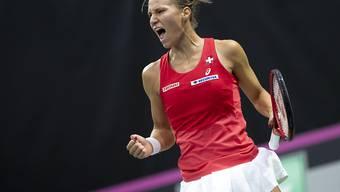 Kämpferisch, intelligent und abgeklärt: Viktorija Golubic gelang gegen Italien die Überraschung