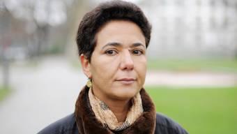Saïda Keller-Messahli, Vorsteherin des Forums für einen fortschrittlichen Islam (FFI). Am 14. Dezember 2009 im Stadtpark von Winterthur.