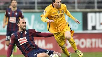 Lionel Messi ist auch in Eibar nicht zu halten und schiesst zwei Tore