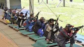 Am Eidgenössischen Schützenfest nehmen jeweils Tausende teil.