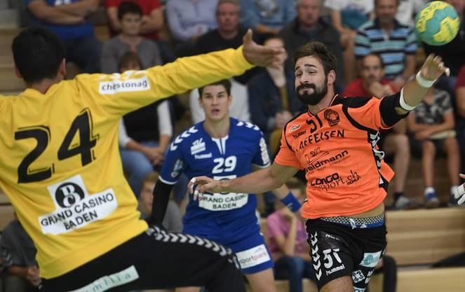 Oliver Mauron, hier noch im Dress des TV Möhlin, wechselt auf die neue Saison hin zum TV Endingen.