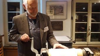 Das Dorfmuseum Untersiggenthal zeigt in einer Sonderausstellung alte Techniken aus der Welt des Buchdrucks und der Buchbinderei.
