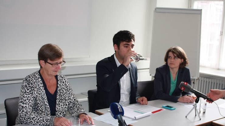 Stellten in Liestal das Schwerpunktprogramm vor: (von links nach rechts) Regula Meschberger, Adil Koller und Kathrin Schweizer.
