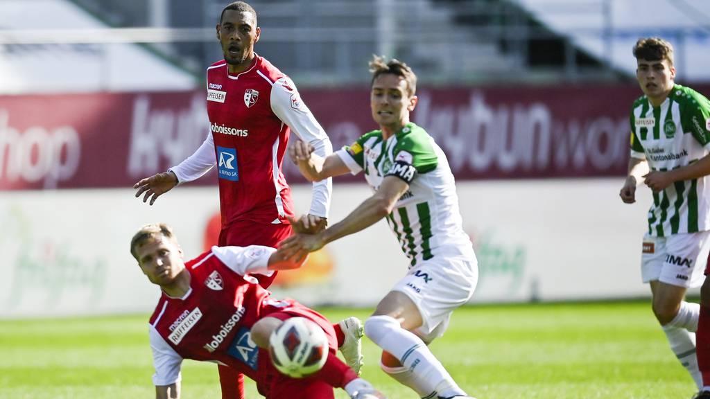 FC St.Gallen gerät tiefer in den Abstiegsstrudel
