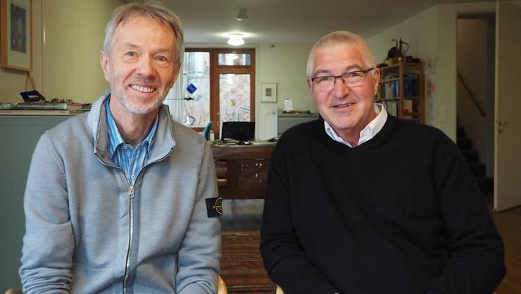 Sie engagieren sich für die Asylsuchenden im Dorf: Franz Küpfer (links) und Andreas Willenegger machen bei der IG Integration Gipf-Oberfrick mit.