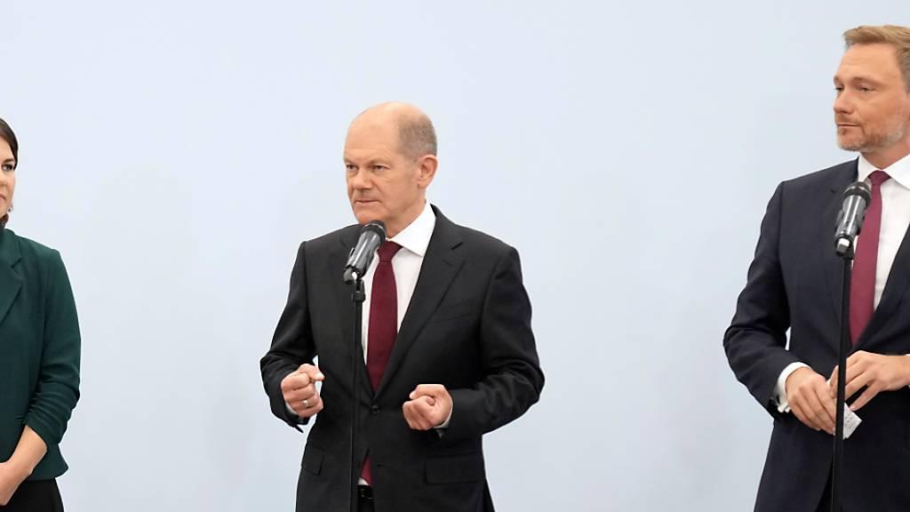 SPD, Grüne und FDP steuern auf Koalitionsverhandlungen zu