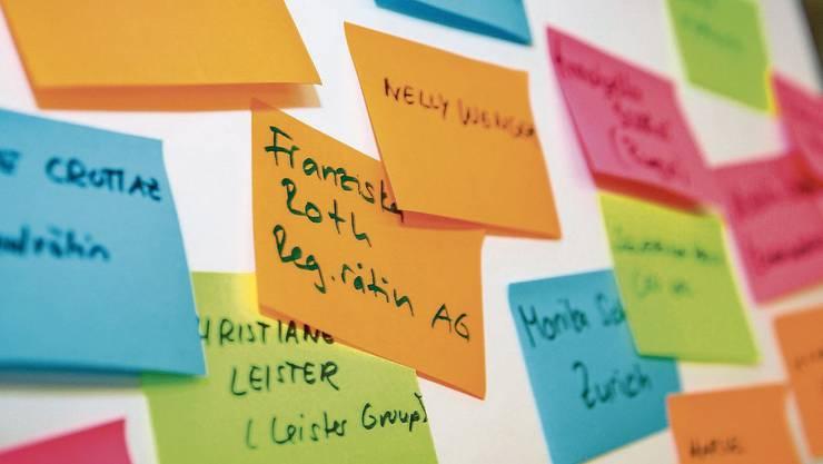 Ideen für einen Wiki-Eintrag an den «Edit-a-thons». 120 Frauen wurden an diesen Anlässen neu auf Wikipedia gebracht. Bild: PD