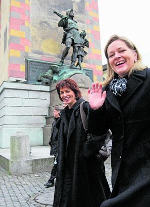 ...mit Bundesrätin Doris Leuthard in Altdorf (2007)...