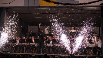 Die Spielgemeinschaft aus Kestenholz und Oberbuchsiten zeigte sowohl ein musikalisches als auch ein reales Feuerwerk.
