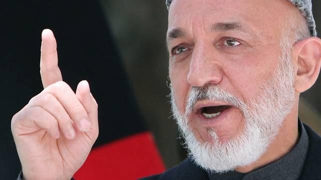 Der afghanische Präsident Hamid Karsai (Archiv)
