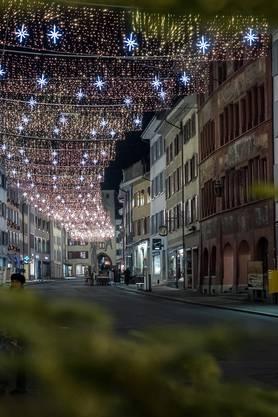 So schön erstrahlt derzeit die Weihnachtsbeleuchtung im Stedtli in Liestal.