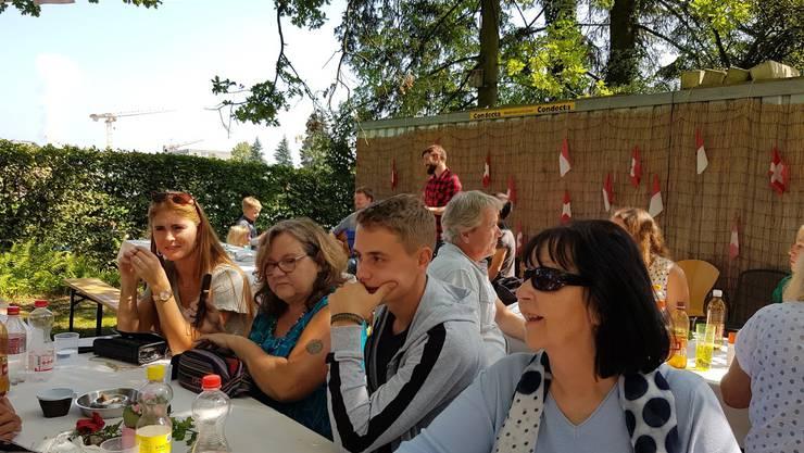 Gute Stimmung am Sommerfest