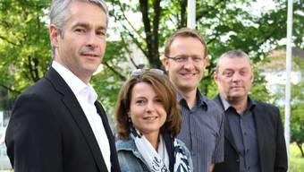 im Bild: Patrick Keller, Barbara Bucher, Arsène Perroud und Marco Veil.