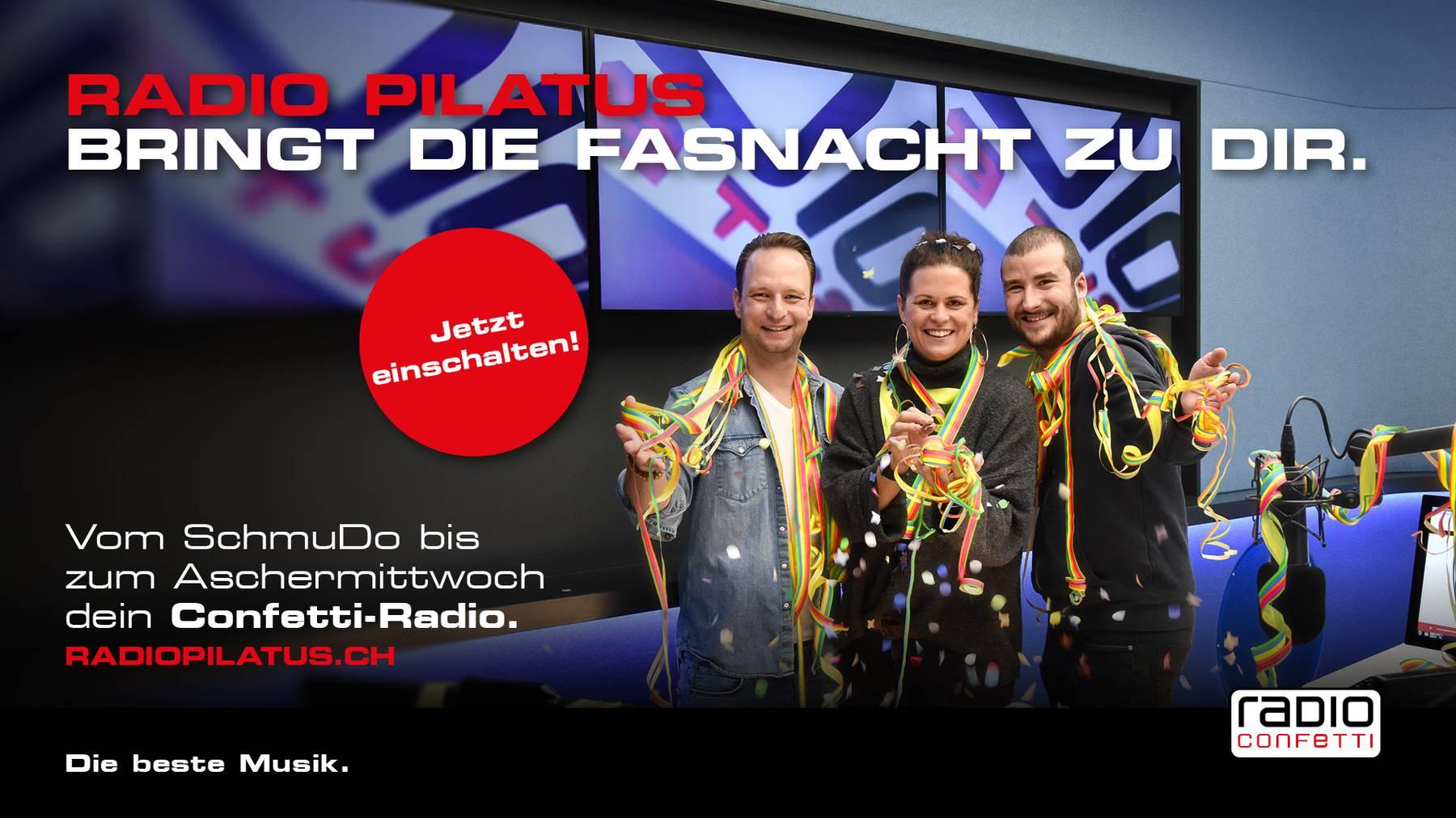 Radio Pilatus, dein Confetti Radio