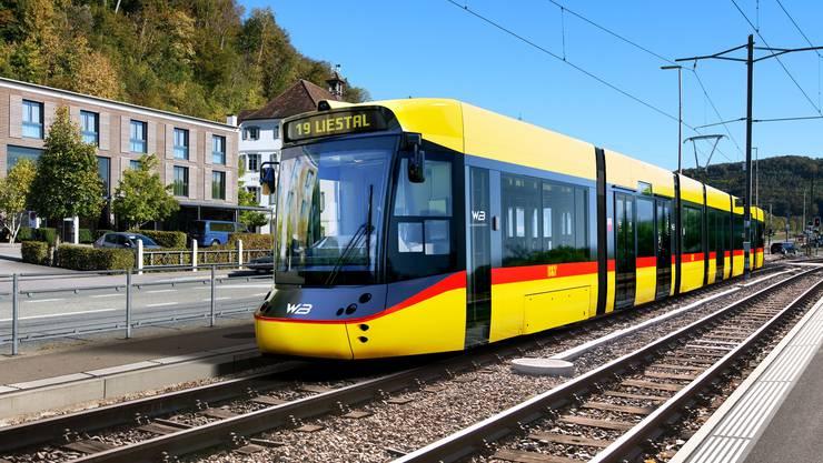 So werden die neuen Züge der Waldenburgerbahn ab Ende 2022 aussehen.
